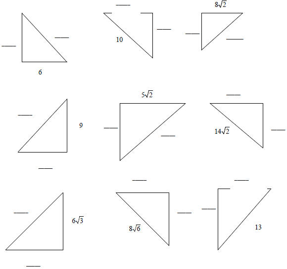 Worksheets 45 45 90 Triangle Worksheet 30 60 90 triangle worksheet with answers imperialdesignstudio the triangles each measures 45 90ao leave answer in